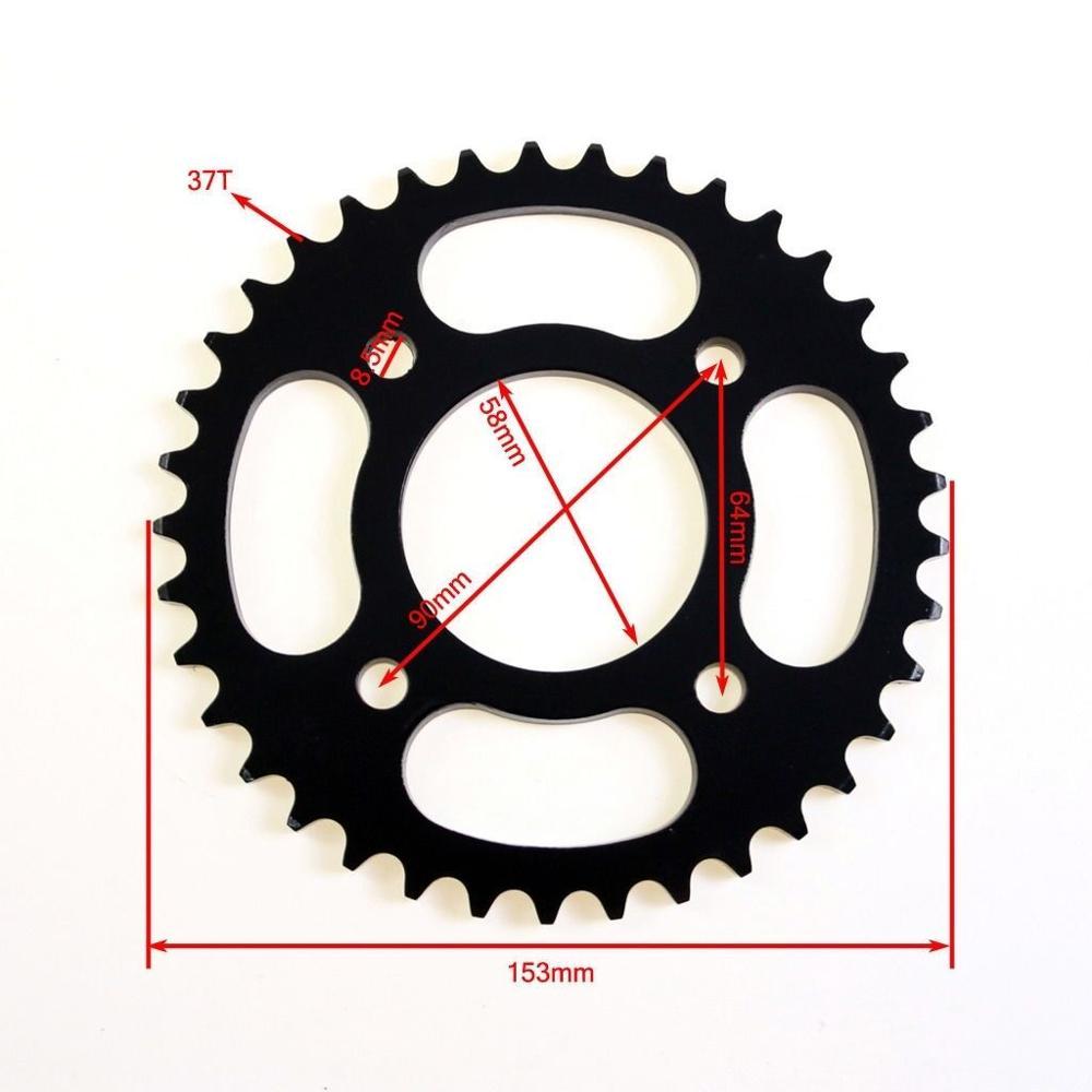 420 Chain 37 T teeth 58mm Rear Sprocket for 50cc 70cc 110cc 125cc Dirt Pit Bike