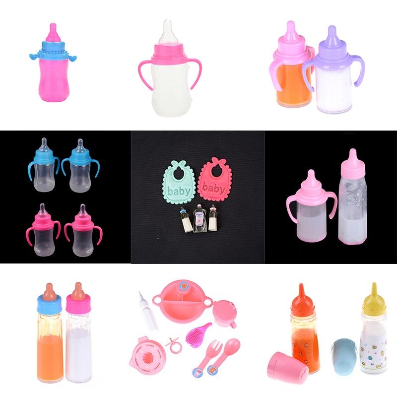 112 casa de muñecas muñeca bebé alimentación chupete botella para vivero miniatura bebé botellas de champú Baberos Set accesorio de guardería regalo