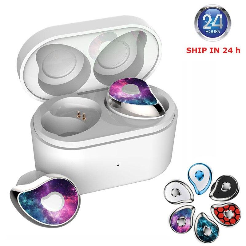 Auriculares Bluetooth DaoLxi TWS con cancelación de ruido, auriculares inalámbricos sin retraso para juegos, auriculares impermeables IPX5, caja de carga