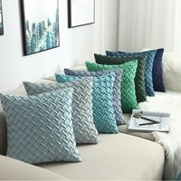 1pcs solid color cushion cover hand woven plaid cushion pillow cover home decorative 45x45cm30x50cm