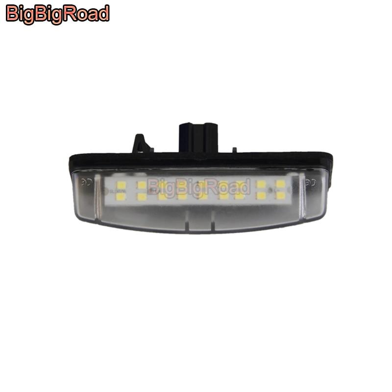 BigBigRoad matrícula de coche luces número marco luz para Mitsubishi Grandis/Colt Plus/Carro espacial para Scion tC ANT10 AGT20