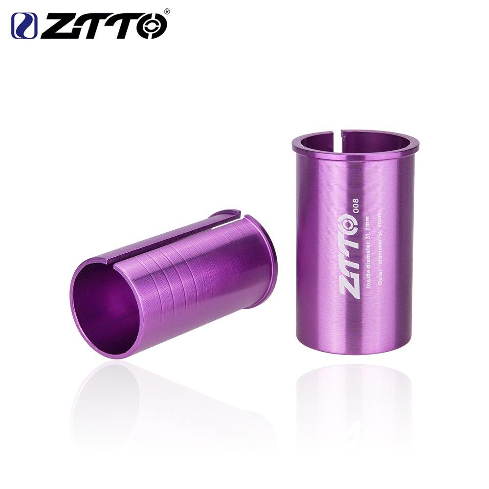 Ztto bicicleta selim adaptador liga manga converter assento pós tubo adaptador de conversão 25.4 27.2 28.6 30.4 30.8 31.6 33.9 34.9mm