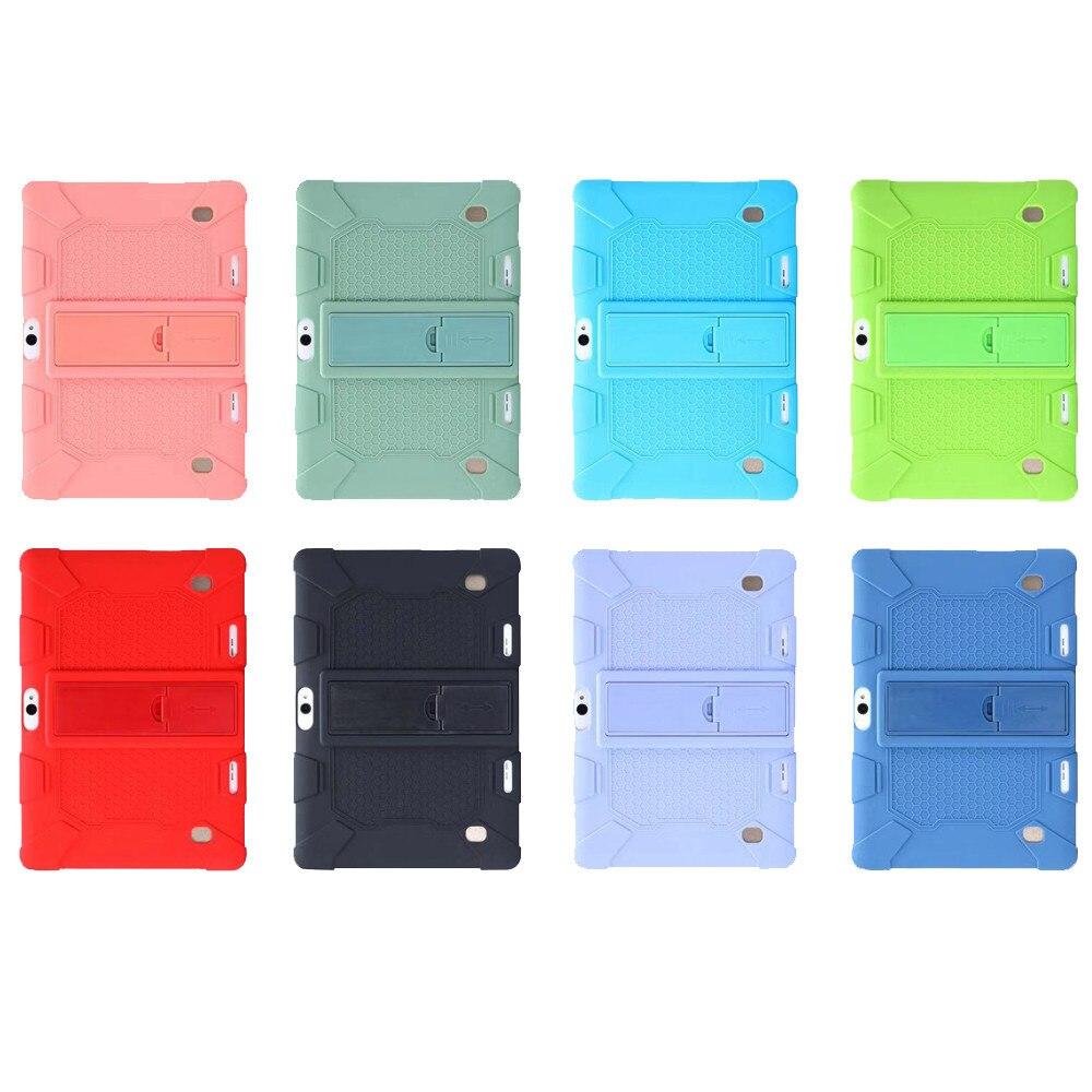 Funda protectora con soporte de silicona para Prestigio Multipad Grace 5771 5791 7781 3301 3201 3101 4G 10,1 pulgadas Tablet Case + Pen