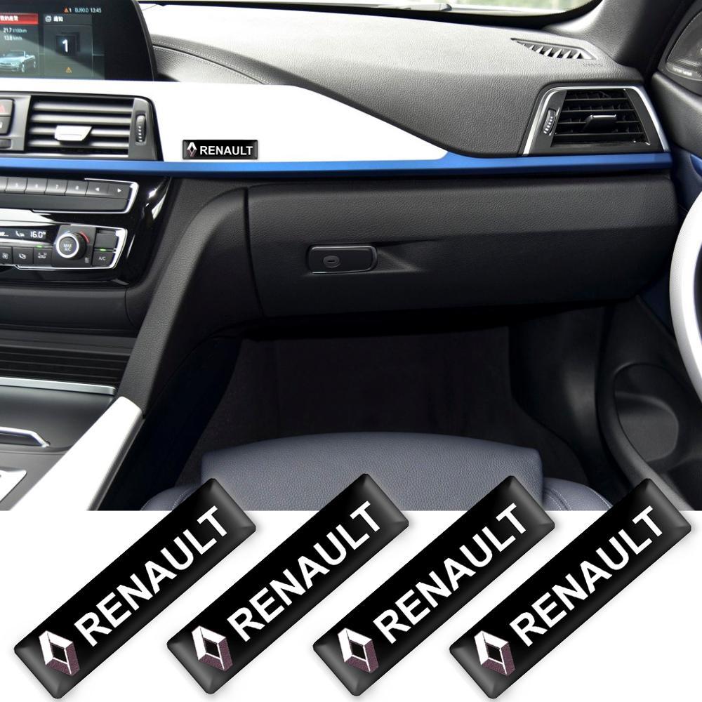2/4/10 pçs estilo do carro 3d decorações adesivos emblema emblema emblema para renault megane latitude satis captur frandzy acessórios