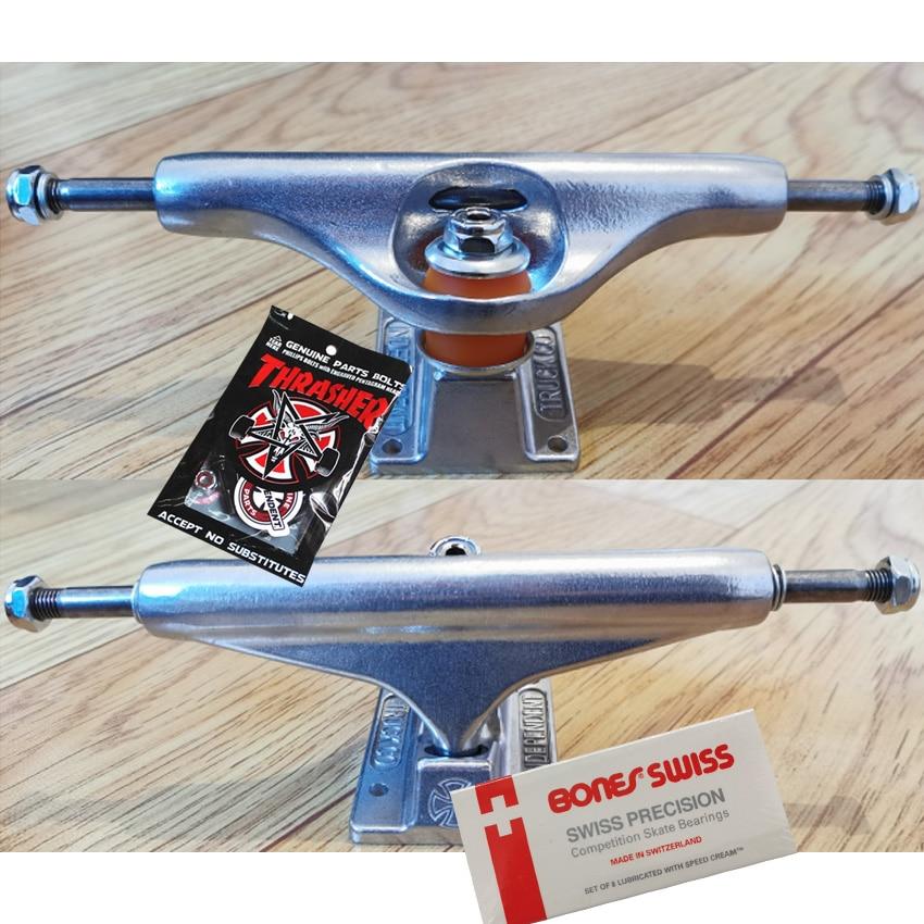 139 149 159 branded forged skateboard trucks 5.25 6.25 pro level original pro bushings skateboard bearings