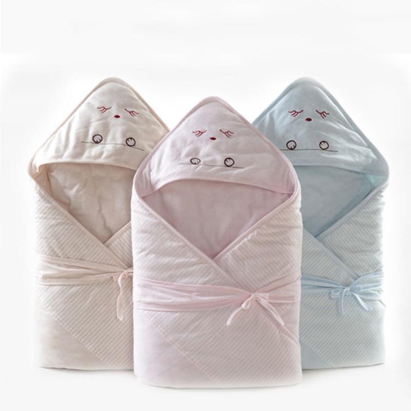 90*90cm primavera recién nacidos manta de bebé envoltura de dibujos animados bebé con capucha mantas ropa de cama Toalla de baño saco de dormir para bebé recién nacido