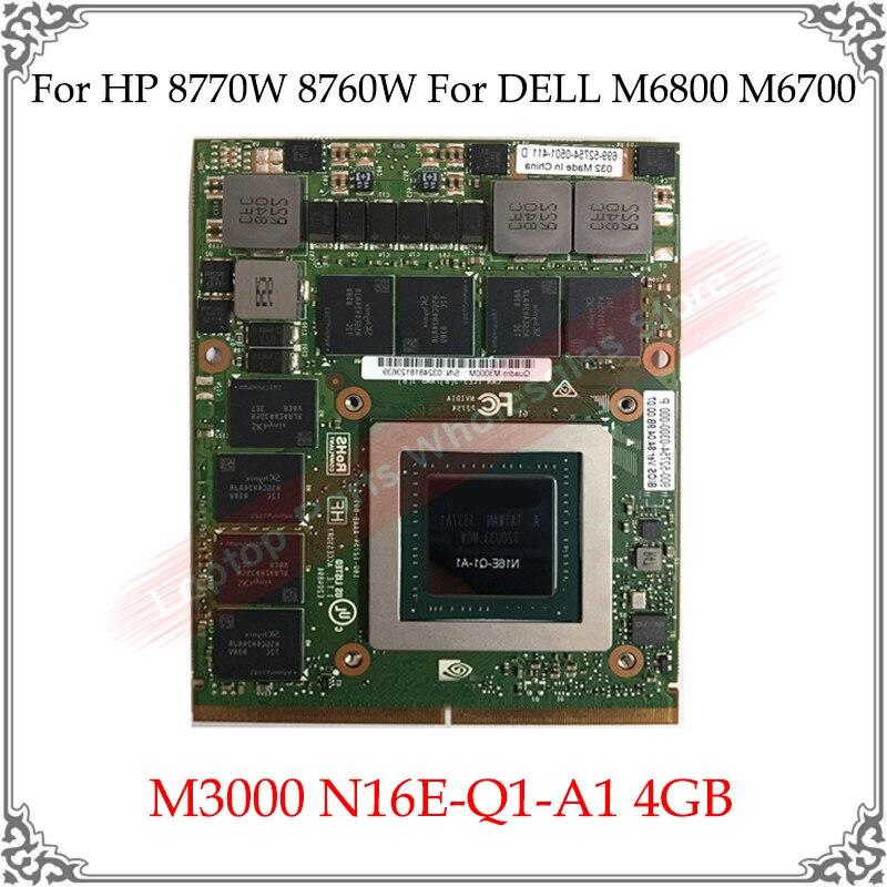 M5000M M4000 M3000 N16E-Q5-A1 N16E-Q1-A1 8GB 4GB الفيديو المحمول بطاقة الرسومات ل HP 8770W ZBOOK 17 G3 G4 لديل M6800 7710 7720