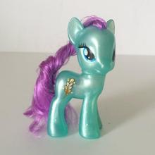 8cm 러블리 소녀 조랑말 PVC 승/갈기 크리스탈 조랑말 사파이어 조이 작은 말 인형 인형 소녀 생일 선물