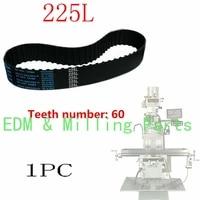 1x bridgeport milling machine 225l belt gear inner cnc 60 teeth vertical mill belt