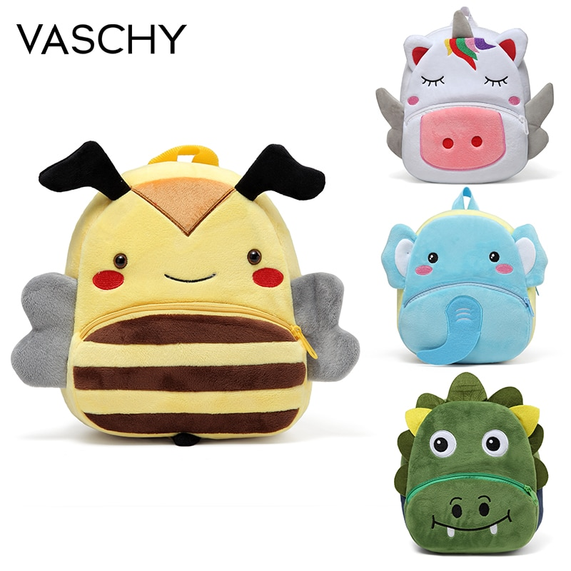hello kitty cute backpack to school girls toddler schoolbags cartoon small bag kindergarten child kids small back pack VASCHY 3D Soft Plush Toddler Backpacks for Kids Cartoon Small Animals Backpack for Boys Girls Cute Kindergarten School Bag