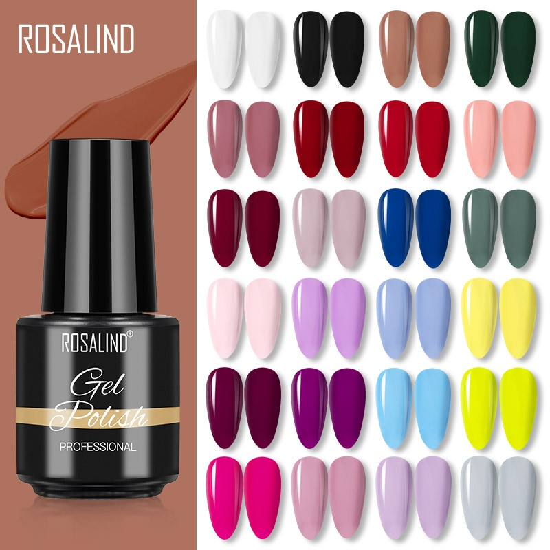 ROSALIND Gel Nail Polish Semi Permanent Winter Color Series Glitter Gel UV Led Lamp Polish Extension