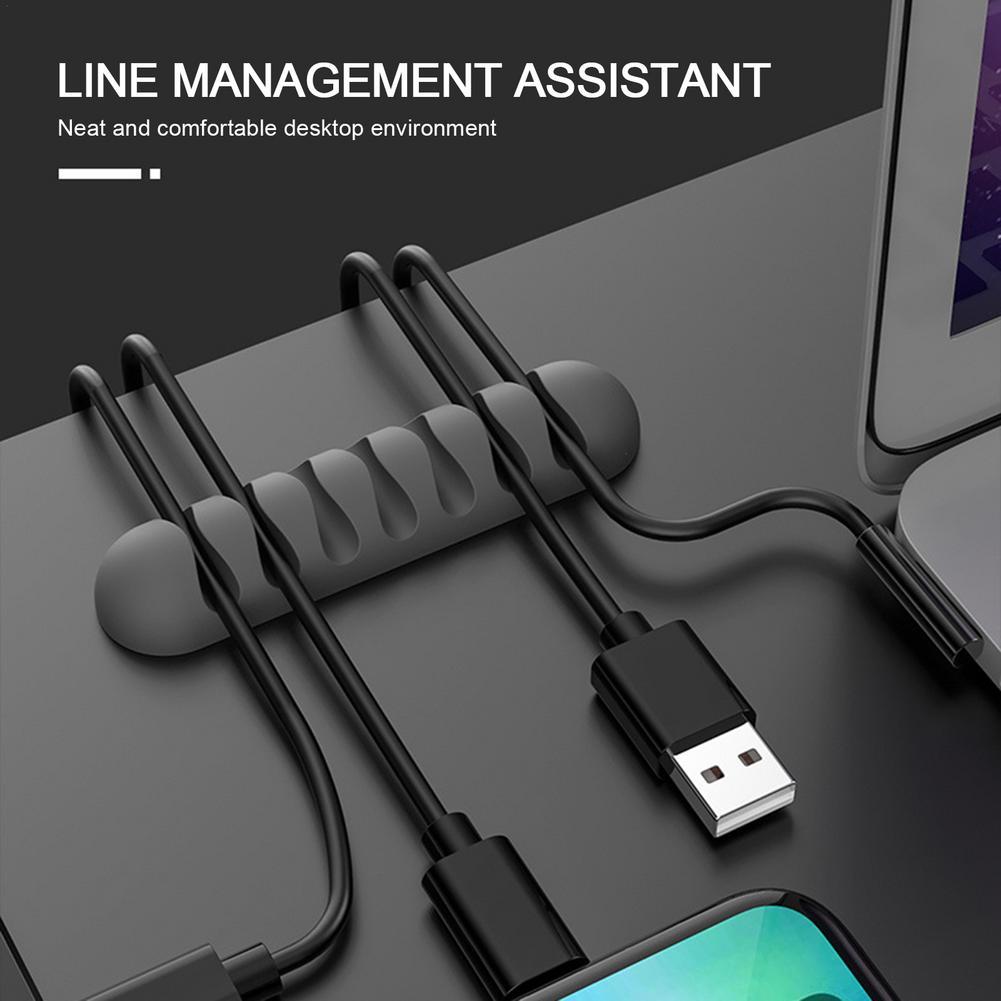 Clips de silicona para cables, soporte Organizador para gestión de cables, gestión...
