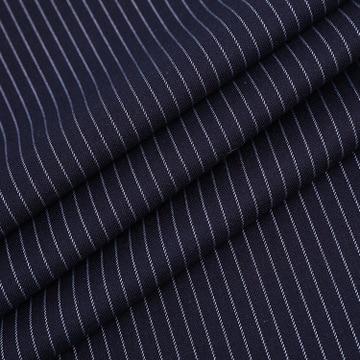 Hilo azul marino teñido a rayas TR Spandex tela para costura trajes hombres ropa de calidad textil costura Tissus 100x145CM