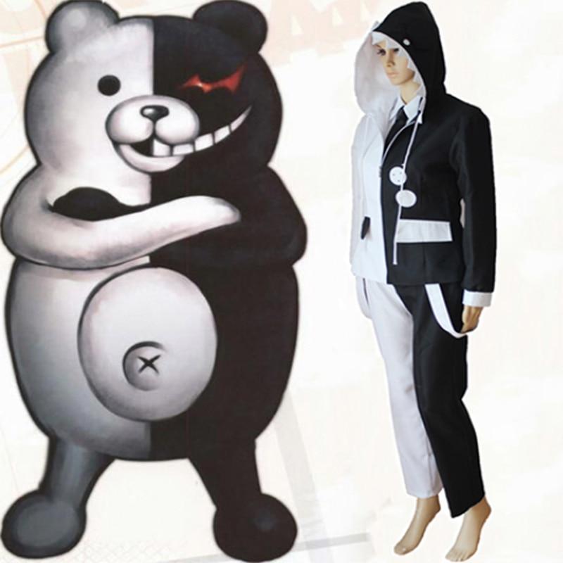 Game Danganronpa The Animation Cosplay Costumes Monokuma Costume School Uniforms Halloween Party Anime