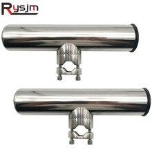 2 uds abrazadera de acero inoxidable para soporte de caña de pescar rieles ajustables de 7/8 ''a 1'' tubo para velero