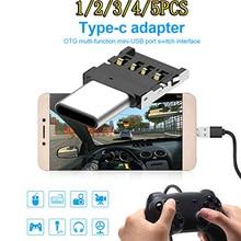 5 Pcs Mini Otg Type-C Om Usb 3.0 Mobiele Telefoon U Schijf Reader Tabletten Adapter Otg Kabel Converter voor Samsung S9 Een Plus 5T Otg