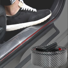 액세서리 5D 자동차 스티커 탄소 섬유 고무 자동차 스타일링 도어 씰 프로텍터 가장자리 가드 용품 범퍼 스트립 DIY 몰딩 스트립