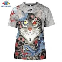 sonspee 3d print japanese tattoo samurai graphics cat mens t shirt funny tees shirt women summer casual t shirt tops clothing