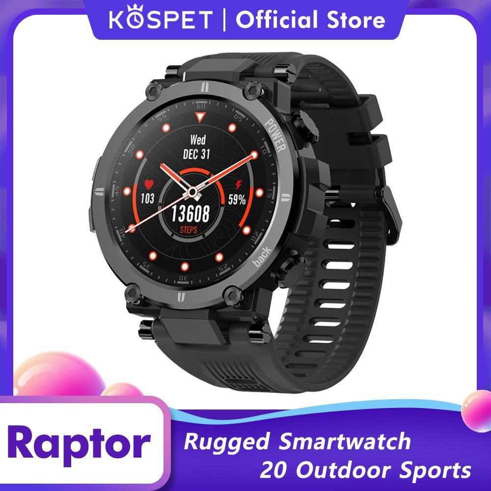 KOSPET Raptor Rugged Smartwatch Men Outdoor Sport Smart Clock Fitness Tracker Waterproof Smart Watch For IOS Xiaomi Android