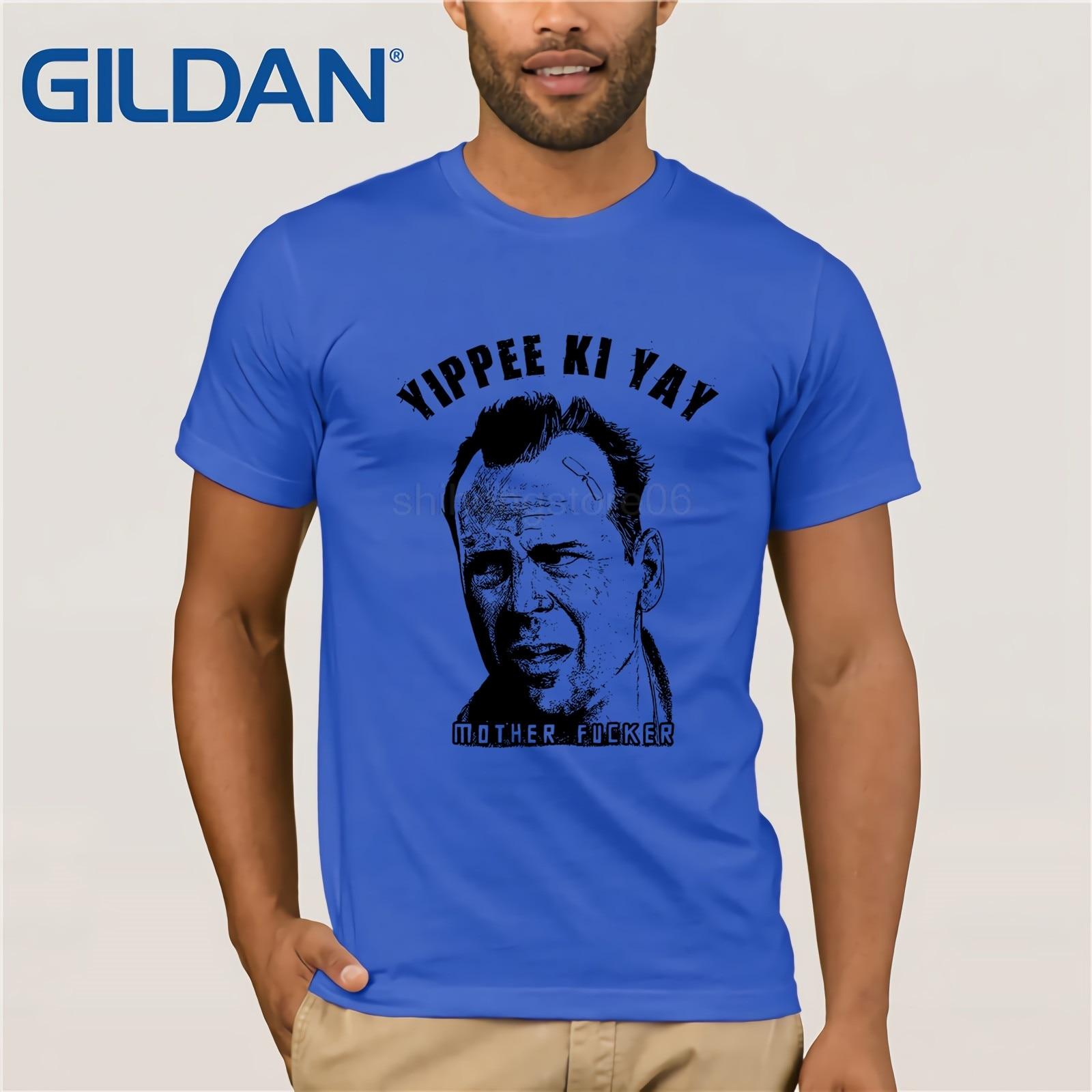 Yippee Ki Yay Mother T Shirt Die Hard Bruce Willis John McClane Movie Tee  Short Sleeves Cotton T-Shirt  Shirts for Men