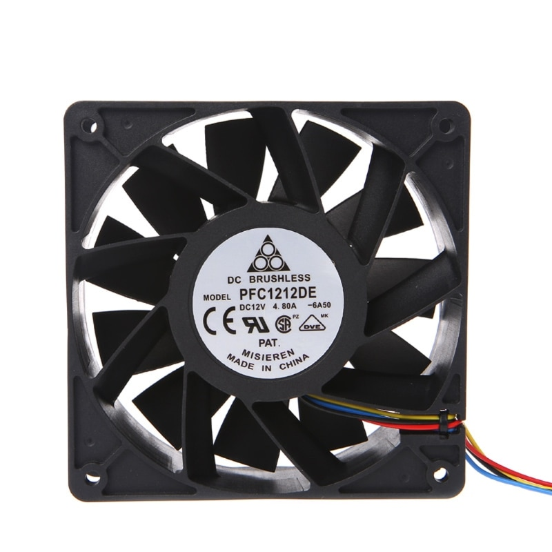 120x120x38mm Brushless DC12V 4.8A 11-Blade Cooling Fan 12038 For Delta PFC1212DE