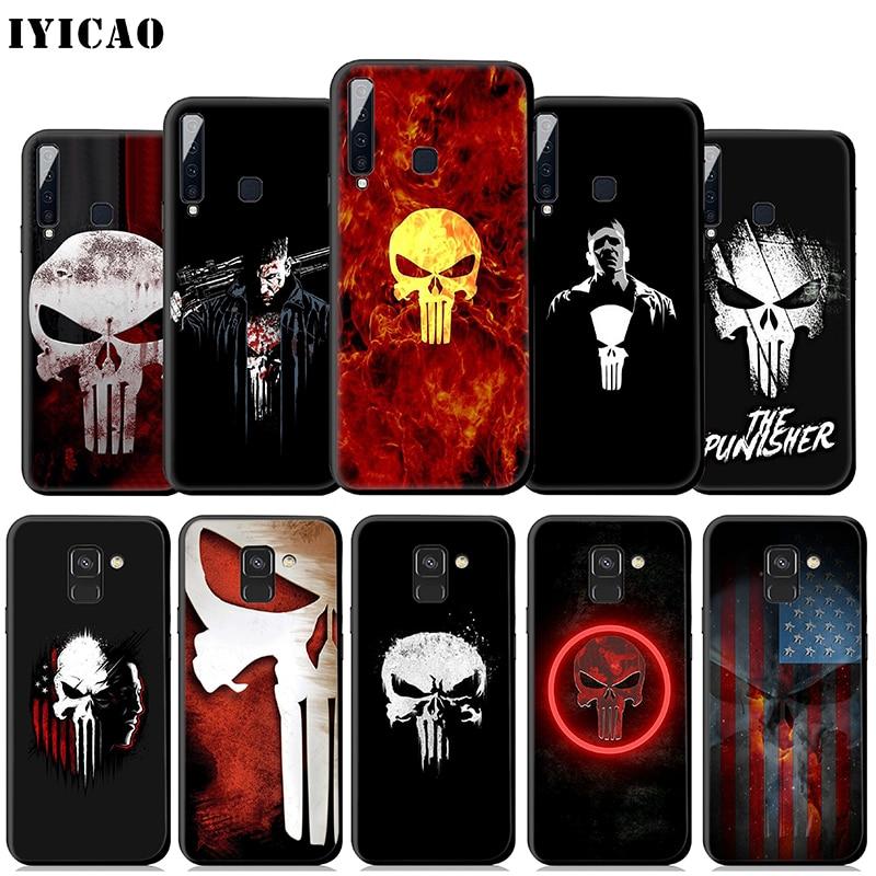IYICAO Punisher Marvel caso suave para Samsung Galaxy A50 A60 A70 A40 A30 A20 A10 M10 M20 M30 M40 teléfono cubierta