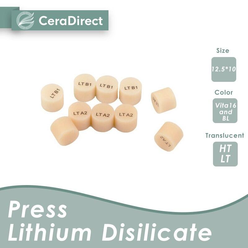 Ceradirect стеклянный керамический слиток (пресс дисиликат лития) LT(10 штук) для стоматологической лаборатории Отбеливание зубов      АлиЭкспресс