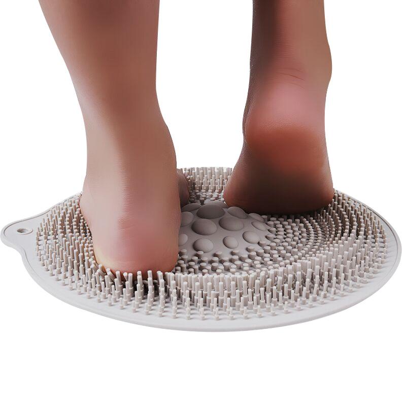 Buen masajeador de pies de ducha saludable limpiador de limpieza mejora la circulación del pie alivia el masajeador de pies doloridos