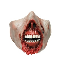 Halloween Party Face Mask Scary Open Mouth Burn Mask  Horror Masks Unisex Clothing Cosplay Halloween