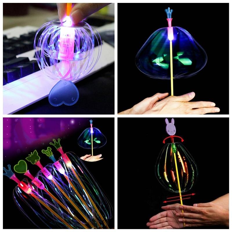 Varita mágica colorida del palo de la burbuja del arco iris