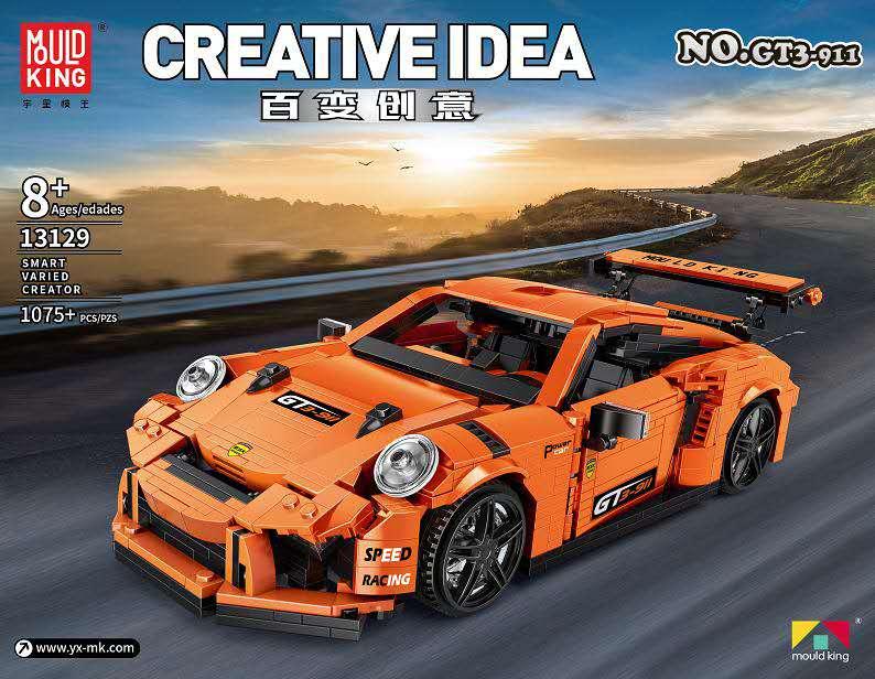 Creative Idea MOC Technic Series The GT3 Speed Racing Car Set Building Blocks Bricks Model Kit Fit Lepining Toys For Children
