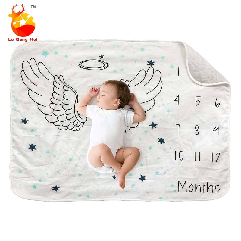 Newborn Baby Blankets 100% Acrylic Knitted Boys Girls Swaddle Wrap Infant Kids Stroller Bedding Quilt Child Accessory