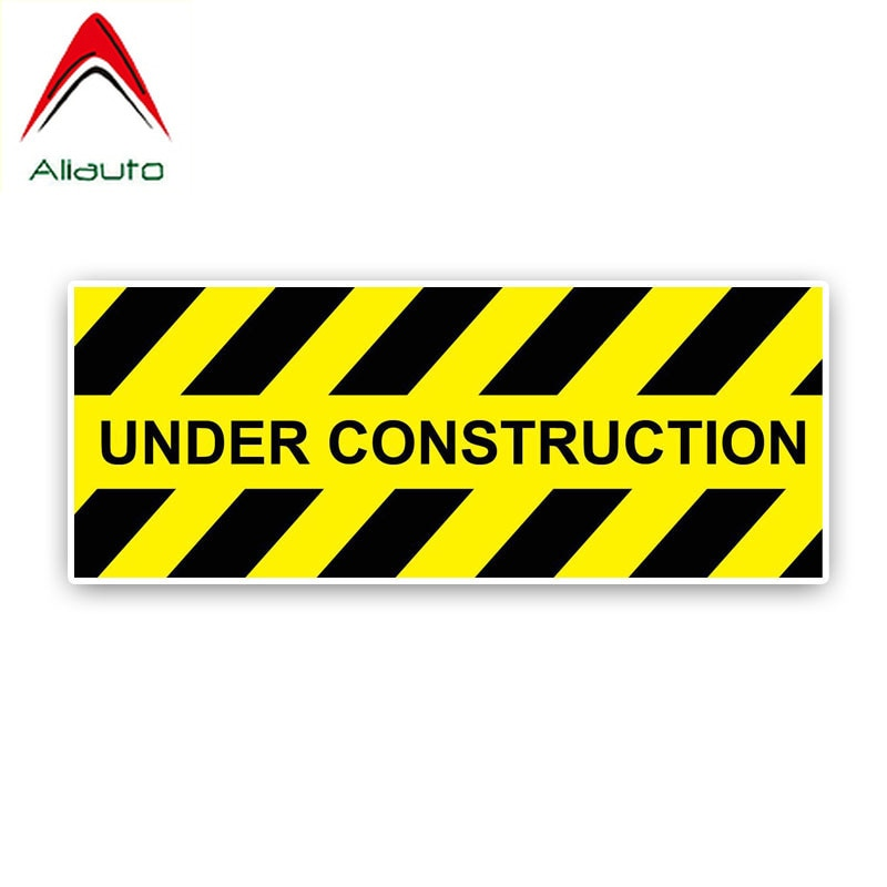 Pegatina de advertencia para coche Aliauto, cubierta para construcción, accesorios para arañazos, calcomanía de PVC para Volvo Xc90 Nissan Qashqai J10,20cm * 7cm