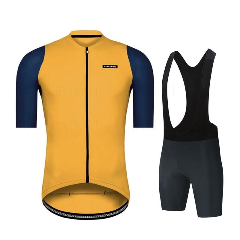 Etxeondo-Ropa de Ciclismo transpirable, conjunto deportivo de manga corta, 2021