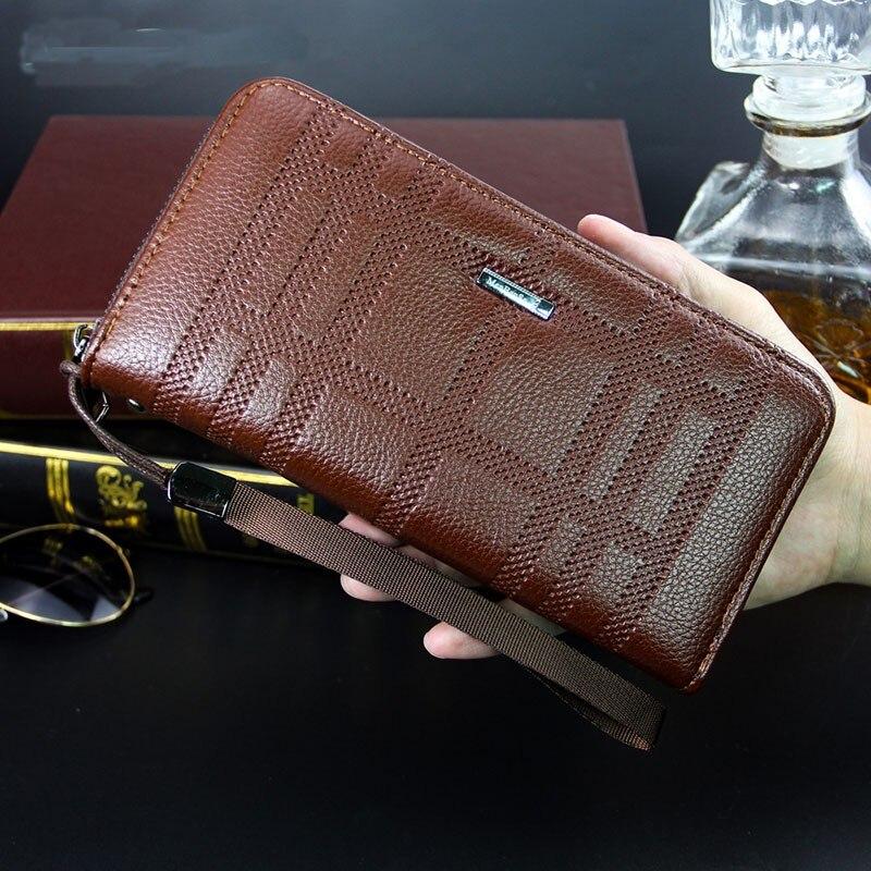 Роскошный брендовый мужской бумажник, вместительная сумка, мужской бумажник, Мужской Длинный дизайнерский бумажник на запястье, мужской бу...