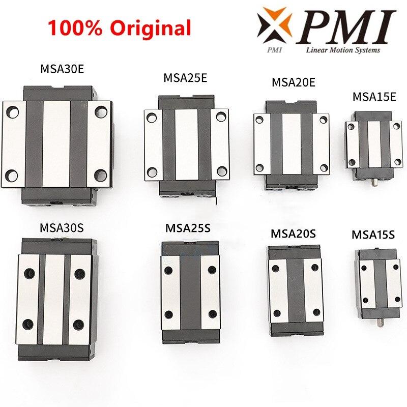 Original de Taiwán PMI guía lineal deslizante transporte bloque MSB/MSA/15/20/25/30/35/45/S/E/LS/LE-N para CO2 láser máquina CNC router