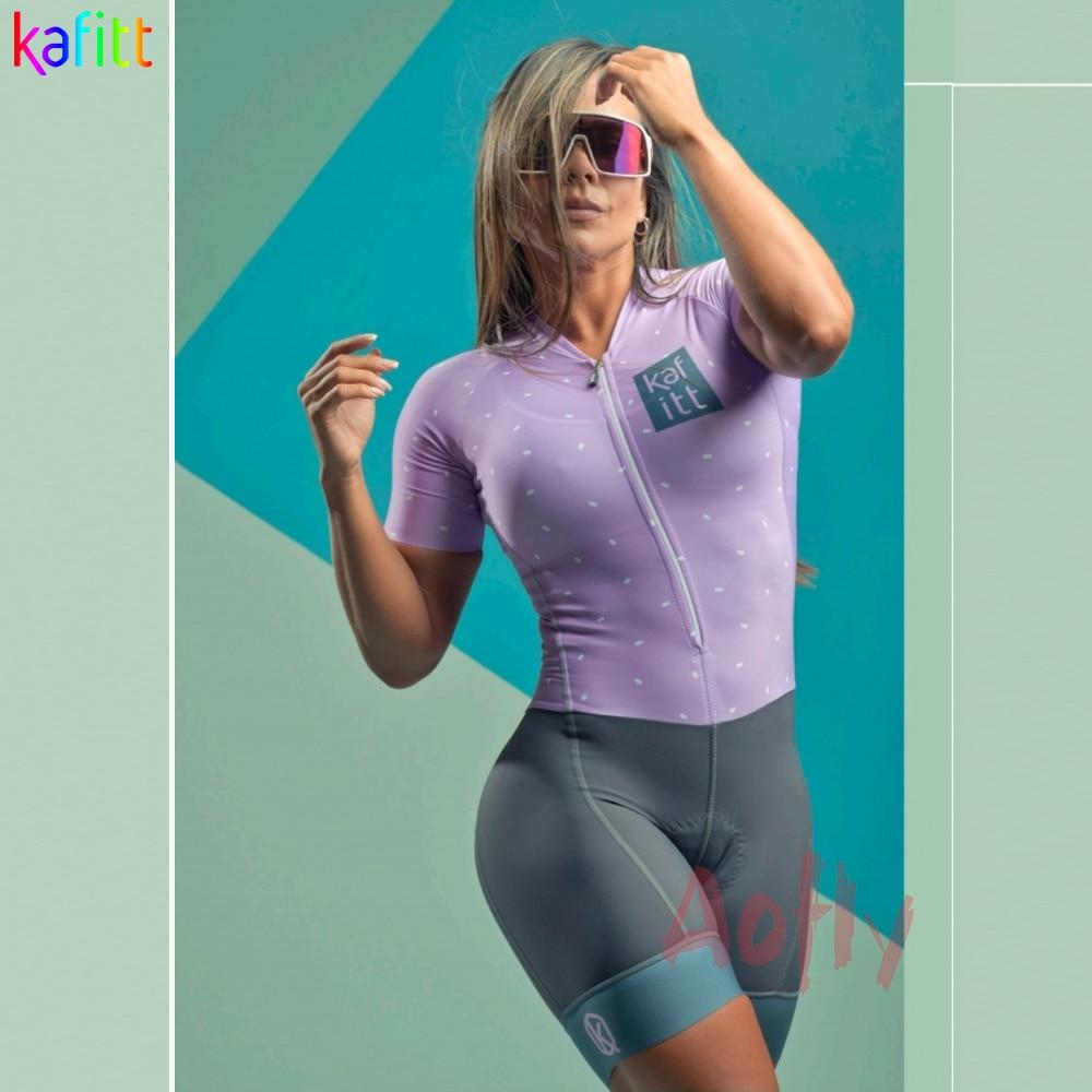 Kafitt-ropa de Ciclismo para Mujer, conjuntos de triatlón para bicicleta, mono femenino,...