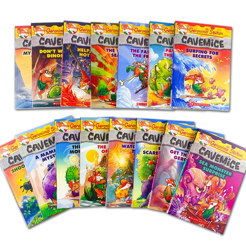 15 Books Geronimo Stilton Cavemice Picture Book Children Reading Book Young-adult Novel English Comic Story For Age 5-12 Livros недорого