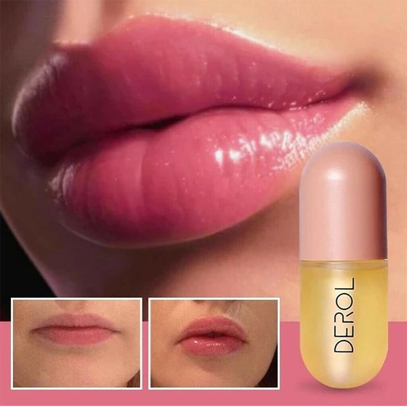 5ml Instant Volumising Lips Plumper Repairing Reduce Lip Fine Lines Mask Long Lasting Moisturizer Care Lip Oil  Plump Serum