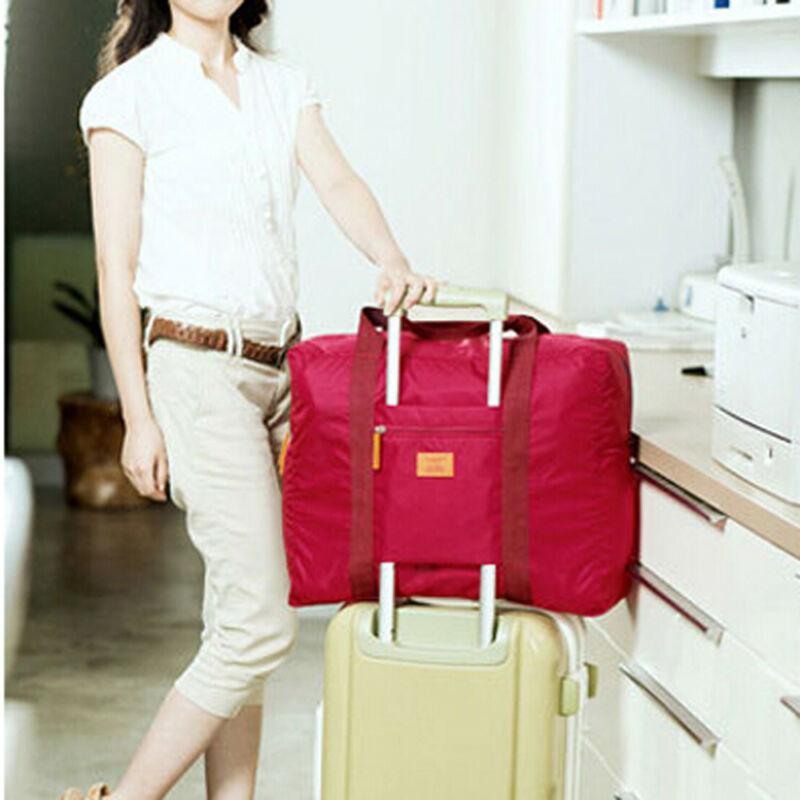 Foldable Waterproof Travel Luggage Bag Large Capacity Sport Duffle Tote Carry-on Organizer Handbag School Nylon Bag  /BY