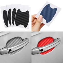 4Pcs Handle Anti Scratch Stickers Universal Carbon Fiber Auto Door Handle Film Car Stickers Goods Ac
