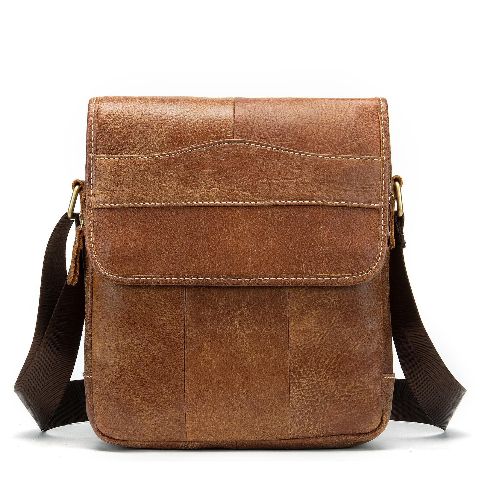 Мужские сумки на плечо, мессенджеры, Брендовые мужские ретро сумки из воловьей кожи первого слоя, городские рюкзаки на ремне