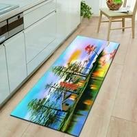 landscape series oil painting door mats corridor floor mats entrance front door mats indoor and outdoor decorative carpets
