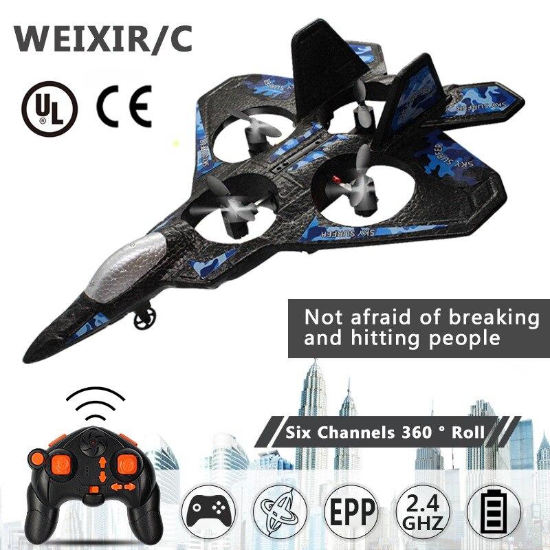 Drone com controle remoto thunder jet x lc222 250mm, aeronave de asa fixa com 2 canais epp de 2.4ghz
