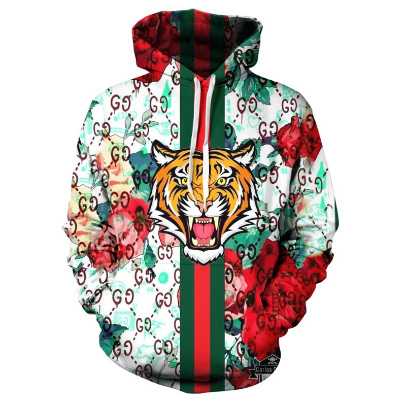 New personality printing 3D hoodie creative art style spring and autumn fashion hoodie cartoon handsome super Dalian hoodie