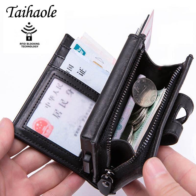 Умный кошелек Taihaole, держатель для кредитных карт, 2019, мужской, женский, многофункциональный, металлический, RFID, алюминиевая коробка, блокиро...