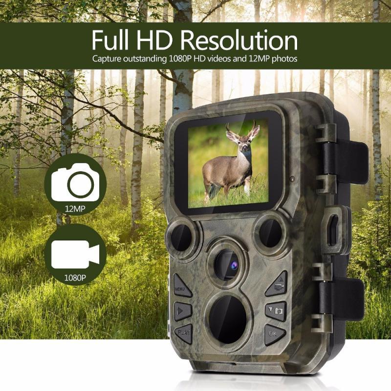 Mini cámara de caza 300 MP, 1080P, trampas para fotos, visión nocturna, visión nocturna, cámaras infrarrojas de rastreo, cámaras de videovigilancia