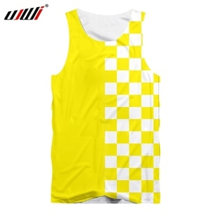 UJWI Summer Casual Shorts Men's Cool Printing Yellow White Checkerboard 3D Men's Hip-hop Plaid Pants Polyester Sports Shorts 5XL