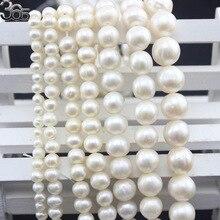Livraison gratuite SR AGrade 4mm 6mm 8mm 9mm 10mm 11mm 12mm naturel rond blanc perles deau douce brin 15