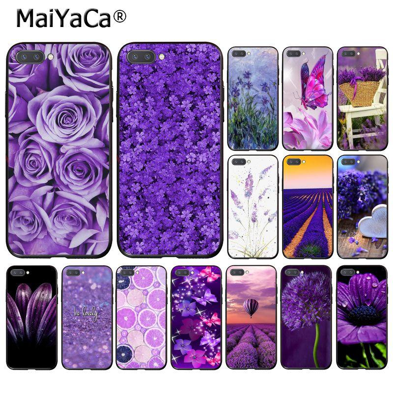 MaiYaCa Simple lavender Purple flowers design  Phone Case for Huawei Honor 8X 9 10 20 Lite 7A 8A 5A 7C 10i 8C 7A 9X Pro